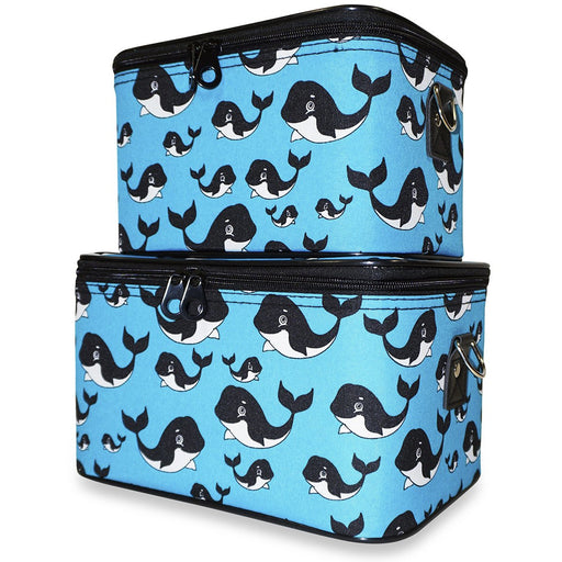 Ever Moda Orca Whale Travel Train Case Set - Dallaswholesalers.net
