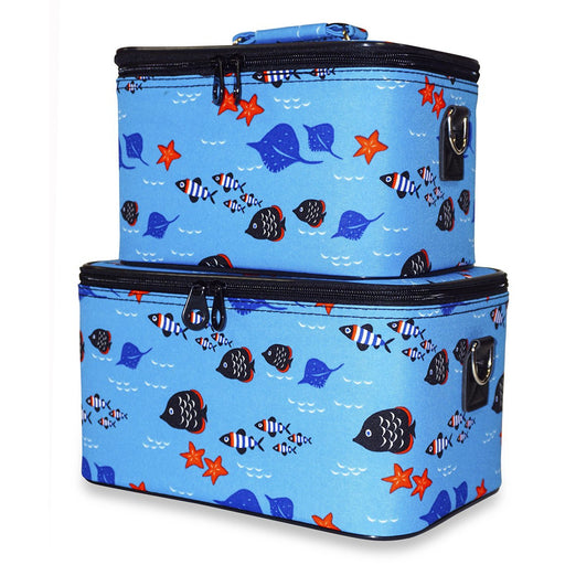 Ever Moda Fish Beauty Train Case Set - Dallaswholesalers.net