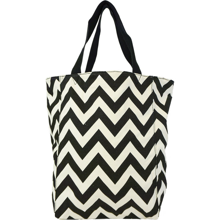 Chevron Large Canvas Tote Bags