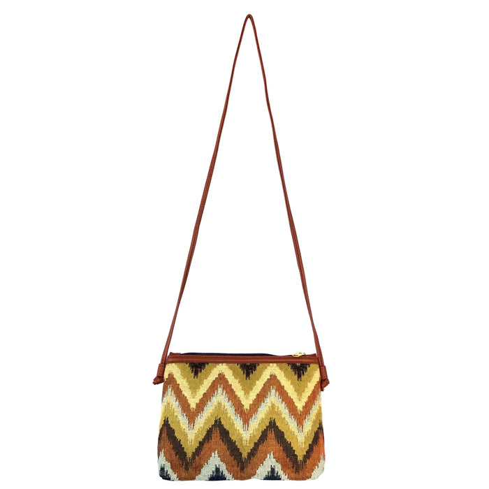 Chevron Kilim Crossbody Bag