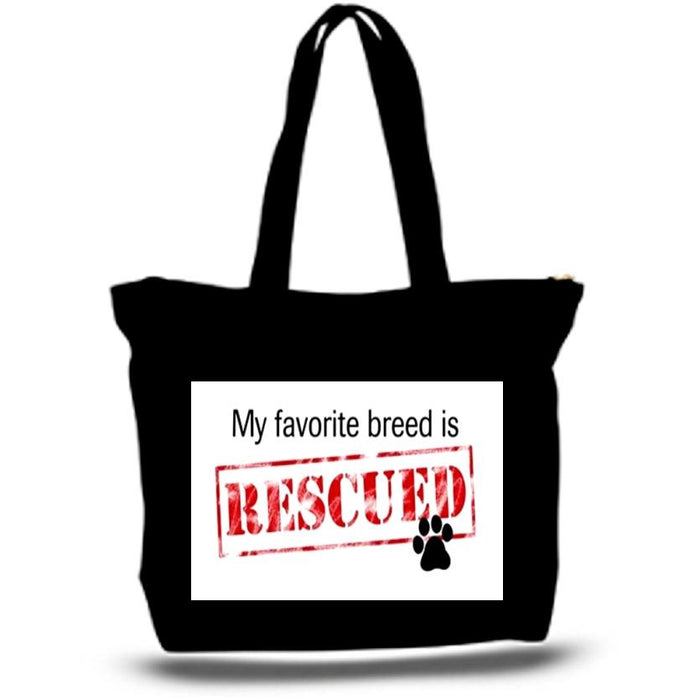 Rescue Dog Tote Bags