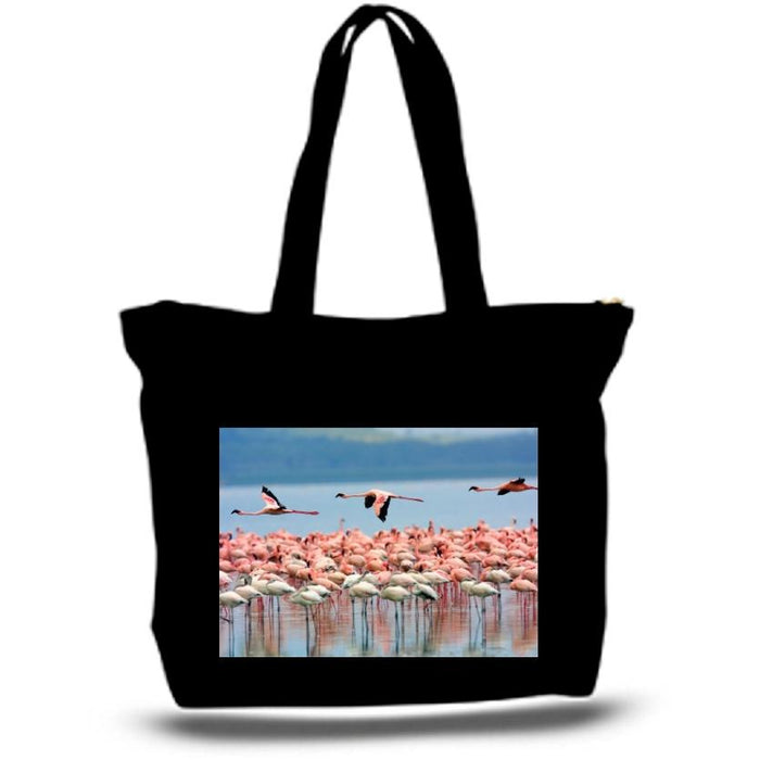 Pink Flamingo Tote Bag