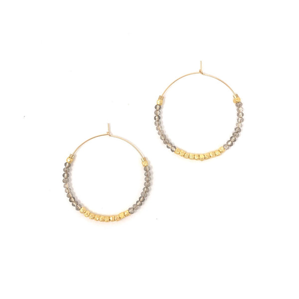Jeweled Hoops (Multiple Colors)