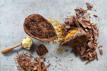 Load image into Gallery viewer, HALF EASTER EGG CARROT CAKE & BRIGADEIRO - 400g