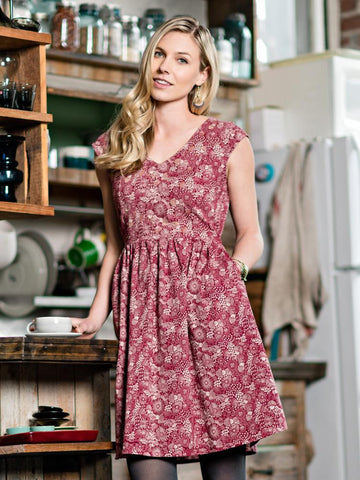 Aurora Autumn Mauve Dress
