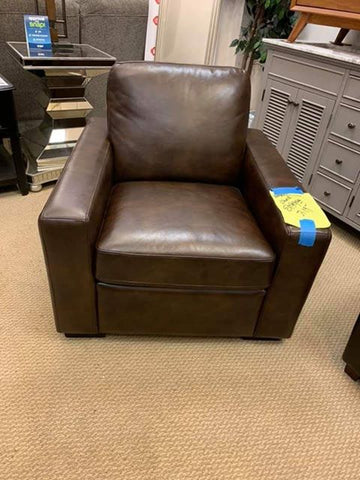 Brown Leather Occasional Chair