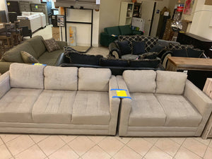 Sofa and Loveseat Set Taupe Color
