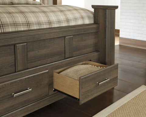 Ashley B251 Juararo King Poster Bed with Storage-STORAGE