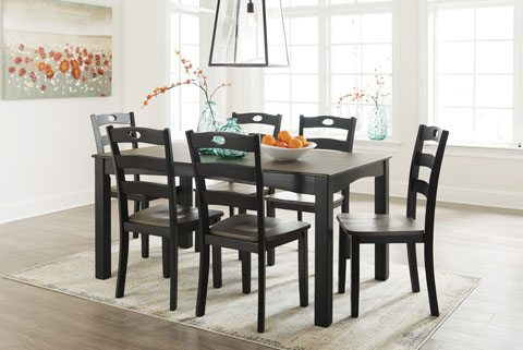 Magnificent Ashley D338 Froshburg Dining Room Table And 6 Chairs Machost Co Dining Chair Design Ideas Machostcouk