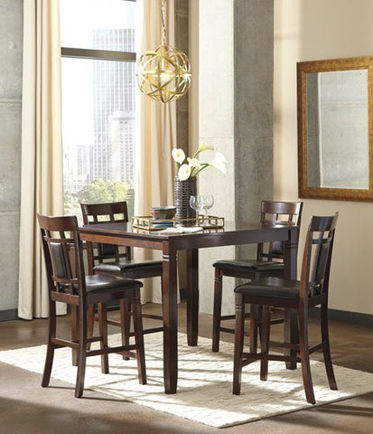 Ashley D384 Bennox Counter Table w/ Four Stools
