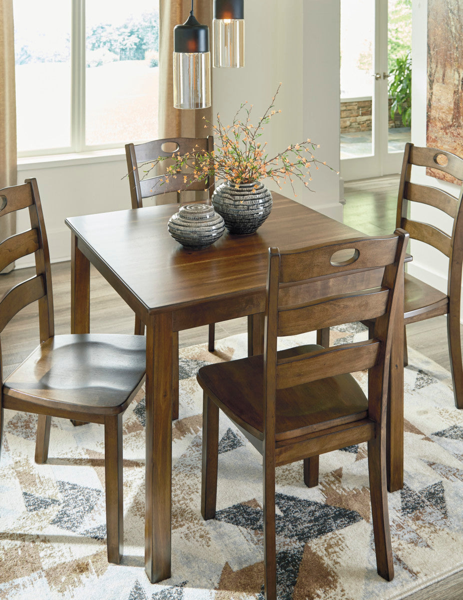 on sale 06c17 1e173 Ashley D419 Hazelteen Square Dining Room Table Set