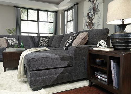 Tracling Slate LAF Sofa, Armless Loveseat & RAF Corner Chaise Sectional