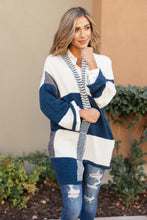 Load image into Gallery viewer, Chunky Patterns Cardigan in Teal - Shopbrandnewyou