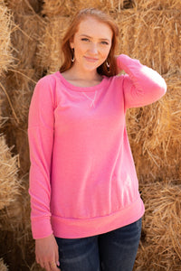 Sadie's Simple Sweater in Pink - Shopbrandnewyou