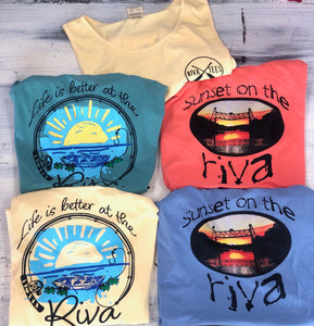Riva Life Life is Better Tees