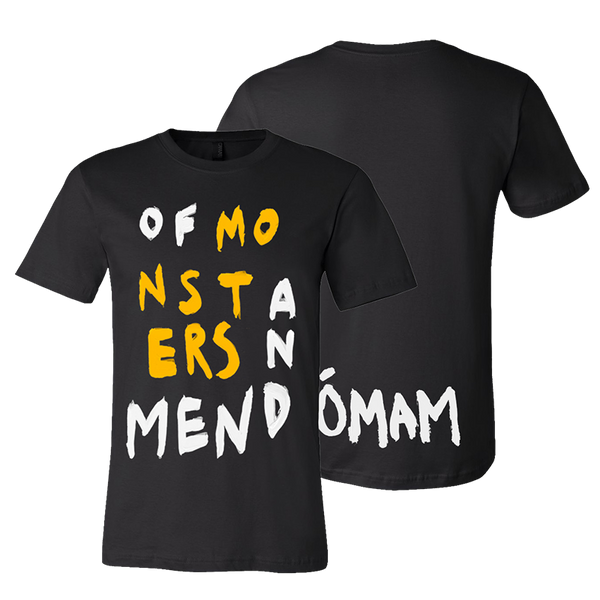 OMAM LOGO BLACK T-SHIRT