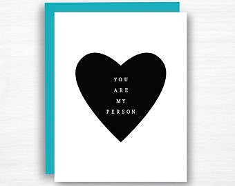 You are my Person, card