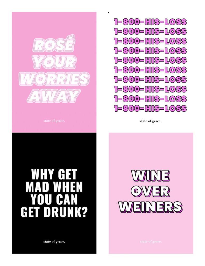Breakup Wine Label Set