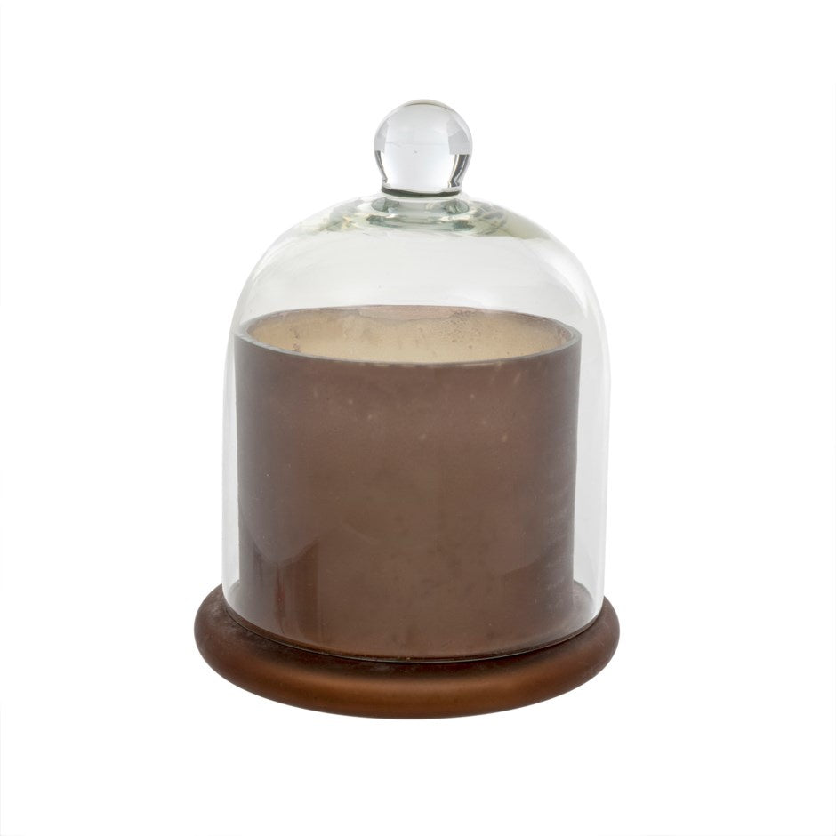Cloche Candle Frosted Mocha, Large