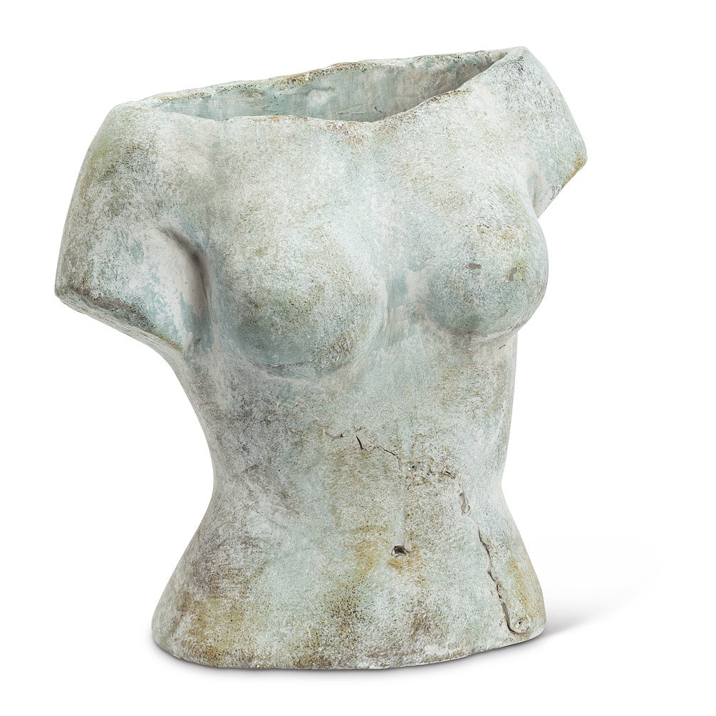 Female Torso Cement Planter