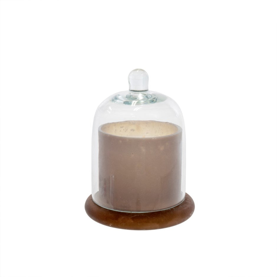 Cloche Candle Frosted Mocha, Small