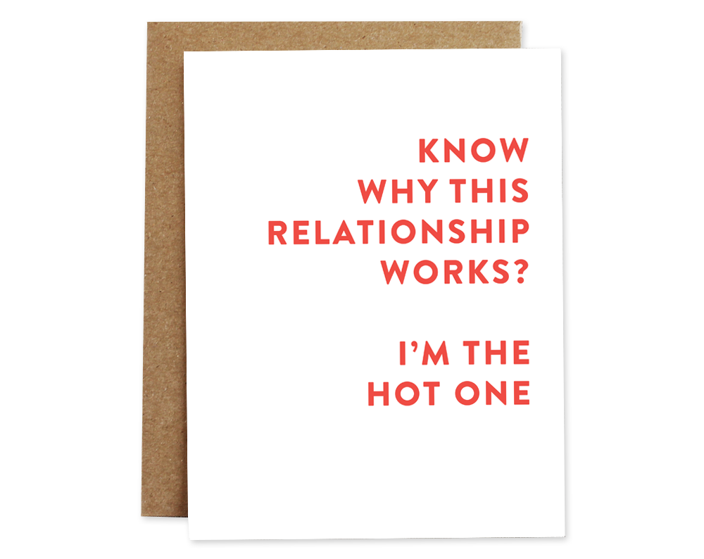 Relationship, I'm the  Hot One, card