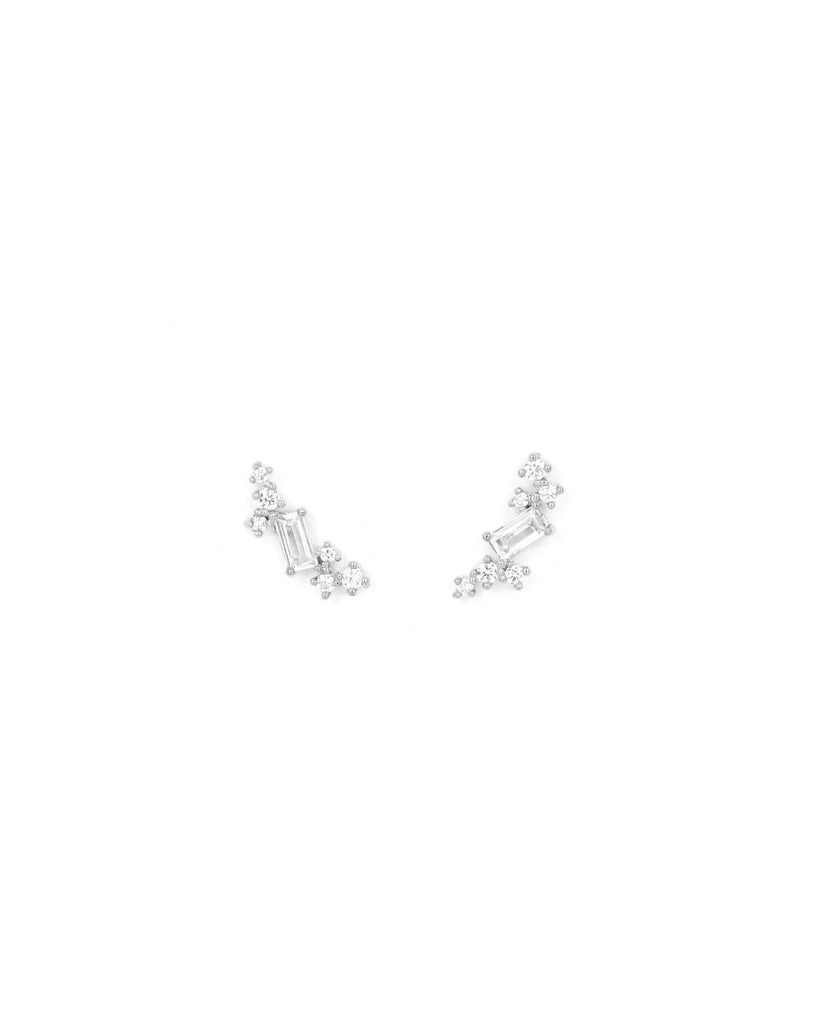 Laurel Climber Earrings, Silver