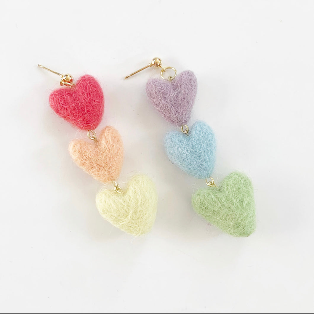 Rainbow Tiered Mini Hearts