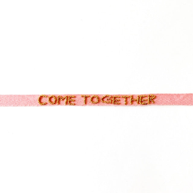 """COME TOGETHER"" TIE BRACELET"