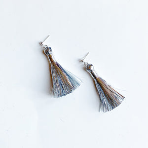 Shimmery Silver Tinsel Tassels