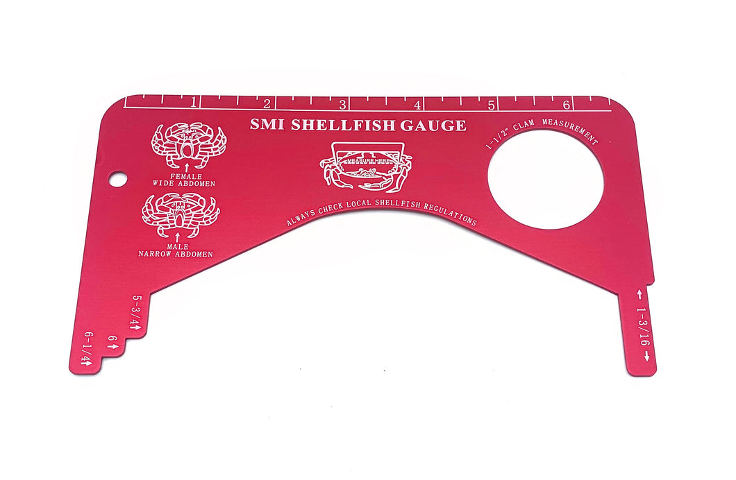 SMI Aluminum Shellfish Gauge, Red