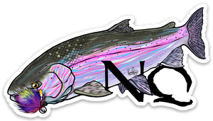 "Never Quit Fishing Steelhead Logo 4"" Sticker"