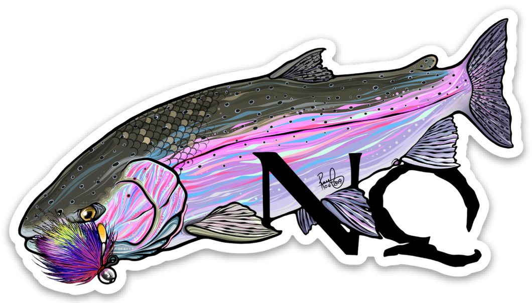 Never Quit Fishing Steelhead Logo 4