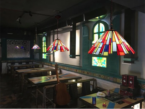 stained glass wall lights