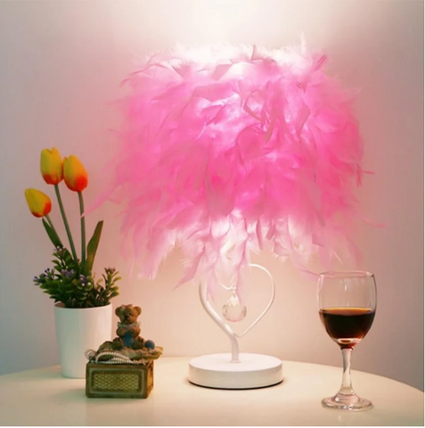 feather table lamp shade