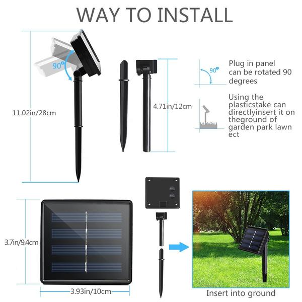 Waterproof Solar Powered LED String Light