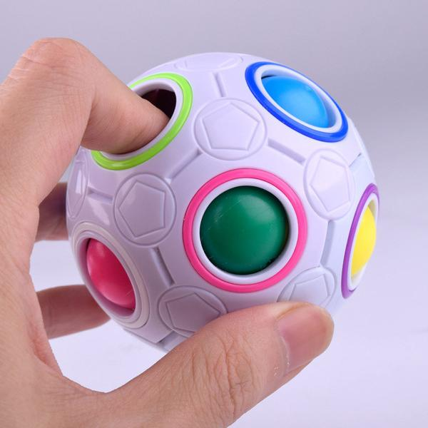 Plastic Press button Fidget Ball