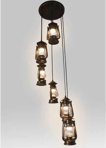 Revolving Stairs Pendant Kerosene Lamp(Bulb Excluded)