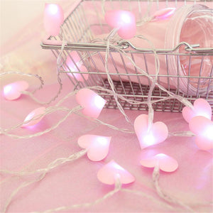 Heart Shaped LED string Light (1.5 Meters 10 Lights)-Decorative String Light-NEON PINK-Khadiza Electricals