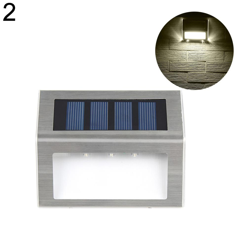 3 LED Solar Stainless Steel Light for Light Outdoor Path/ Floor/ Garden/ Stair Warm White