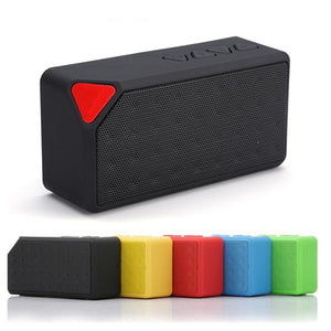 X3 Mini Portable Bluetooth 2.1 Speaker (TF USB/ FM Radio)