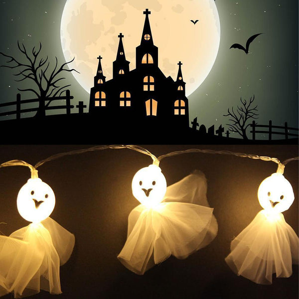 Skeleton Fabric Ghost String Lights-Decorative String Light-[variant_title]-Khadiza Electricals