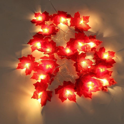 Maple Leaves LED String