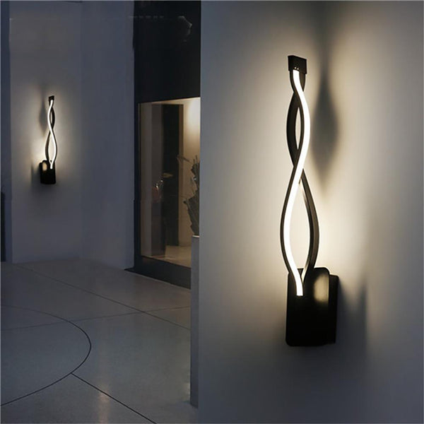 Wavy Wall Lighting Fixture Lamp for Decor