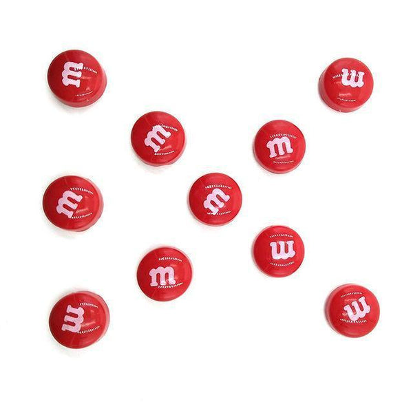 Resin Craft Fridge Magnets(10pcs)-Non Electric Home Decor-10pcs Red-Khadiza Electricals