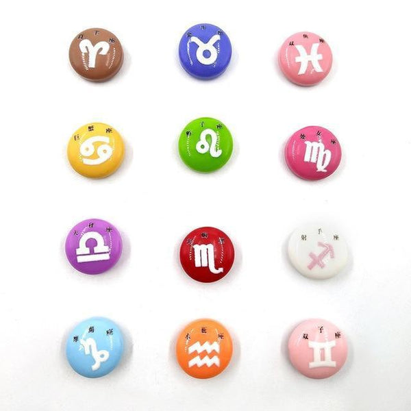 Resin Craft Fridge Magnets(10pcs)-Non Electric Home Decor-12pcs Constellation-Khadiza Electricals