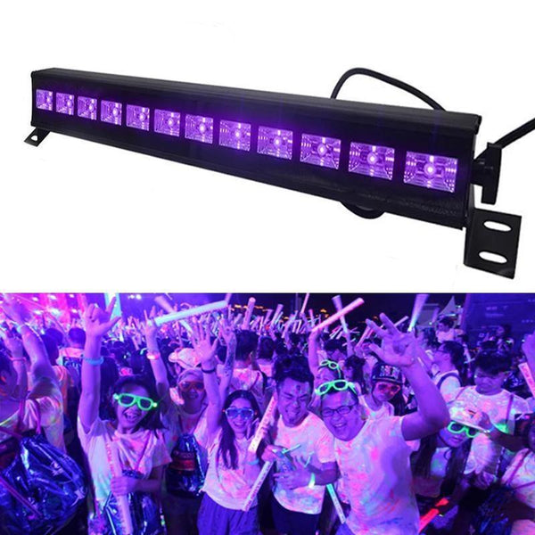 Disco UV Lights (12 LED 36W Par Lamp)-DJ Lights & Sound-EU Plug-Khadiza Electricals