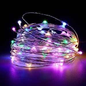 Battery Operated Garland String Light for Indoor/ Outdoor Decoration-Decorative String Light-MULTI-Khadiza Electricals