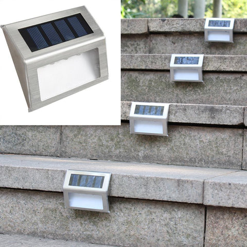 3 LED Solar Stainless Steel Light for Light Outdoor Path/ Floor/ Garden/ Stair