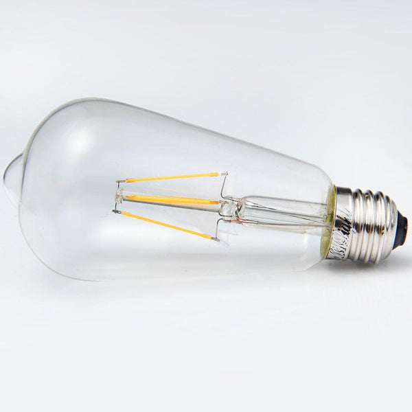 Teardrop Shaped COB Sapphire LED Filament Lamp - Soft White (YouOKLight E27 4W 380Lm 4 LEDs)